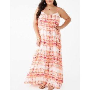 Forever 21 Crinkled Tie-Dye Maxi Dress